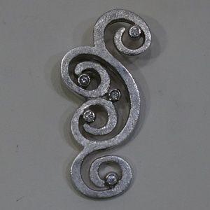 Sterling Silver (.925) Genuine Diamond Pendant